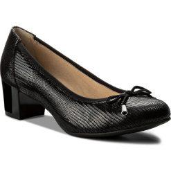 Półbuty CAPRICE - 9-22308-20 Black Reptile 010. Czarne półbuty damskie Caprice, ze skóry ekologicznej, eleganckie. W wyprzedaży za 179.00 zł.