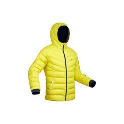 Kurtka SKI-P JKT 500 WARM. Żółte kurtki męskie WED'ZE, z puchu. Za 299.99 zł.