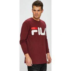 Fila - Longsleeve. Brązowe bluzki z długim rękawem męskie Fila, z nadrukiem, z bawełny, z okrągłym kołnierzem. W wyprzedaży za 149.90 zł.