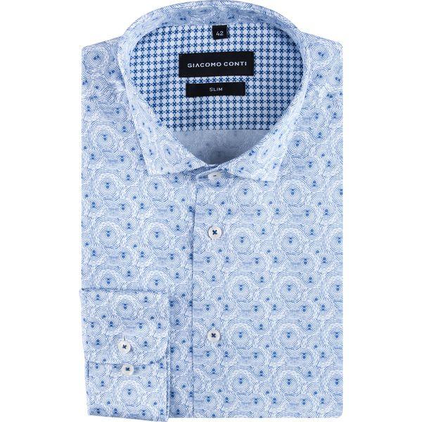 a187ded193d96f Niebieskie koszule męskie z kontrastowym kołnierzykiem - Kolekcja lato 2019  - Chillizet.pl