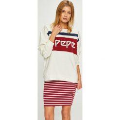 Pepe Jeans - Bluza Frankie. Szare bluzy damskie Pepe Jeans, z nadrukiem, z bawełny. Za 319.90 zł.