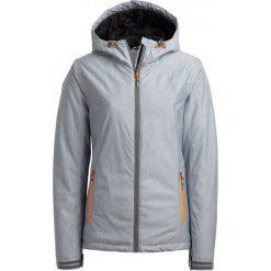 Kurtka narciarska damska KUDN600A - chłodny jasny szary melanż - Outhorn. Szare kurtki damskie Outhorn, melanż. Za 219.99 zł.