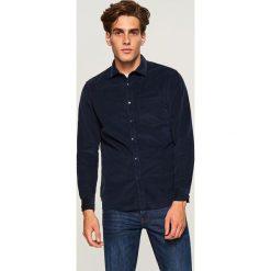 Sztruksowa koszula regular fit - Granatowy. Koszule męskie marki Giacomo Conti. W wyprzedaży za 79.99 zł.