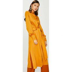 Answear - Sukienka Heritage. Pomarańczowe sukienki damskie ANSWEAR, z elastanu, casualowe, z długim rękawem. W wyprzedaży za 159.90 zł.