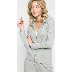 Lauren Ralph Lauren - Bluza pizamowa. Szare piżamy damskie Lauren Ralph Lauren, z bawełny. W wyprzedaży za 279.90 zł.