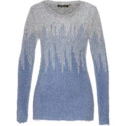 Sweter bonprix niebiesko-biały. Swetry damskie marki KALENJI. Za 109.99 zł.