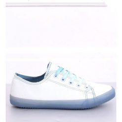 Trampki na kolorowej podeszwie biało niebieskie FG 2948 Blue