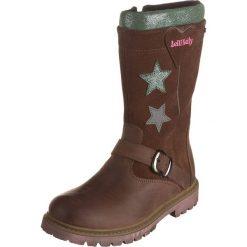 Skórzane kozaki w kolorze brązowym. Buty zimowe dziewczęce Zimowe obuwie dla dzieci. W wyprzedaży za 175.95 zł.