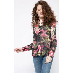 Guess Jeans - Koszula. Szare koszule damskie Guess Jeans, z aplikacjami, z jeansu, casualowe, z długim rękawem. W wyprzedaży za 219.90 zł.