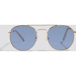 Le Specs Okulary przeciwsłoneczne Revolution - Gold. Brązowe okulary przeciwsłoneczne damskie Le Specs. Za 242.95 zł.