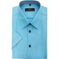 Koszula GILBERTO 15-03-11-K. Niebieskie koszule męskie Giacomo Conti, na lato, z bawełny, z klasycznym kołnierzykiem, z krótkim rękawem. Za 129.00 zł.