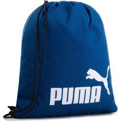Plecak PUMA - Phase Gym Sack 074943 09 Limoges. Niebieskie plecaki damskie Puma, z materiału, sportowe. Za 49.00 zł.