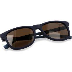 Okulary przeciwsłoneczne BOSS - 0281/S Blue PJP. Niebieskie okulary przeciwsłoneczne damskie Boss, z tworzywa sztucznego. W wyprzedaży za 399.00 zł.