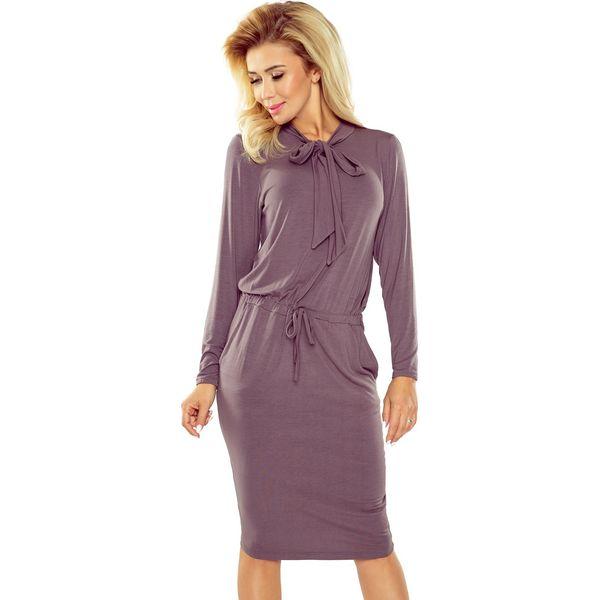 09ae5104430165 Sukienka wiązana pod szyją sf-171-1 - Fioletowe sukienki damskie SaF ...