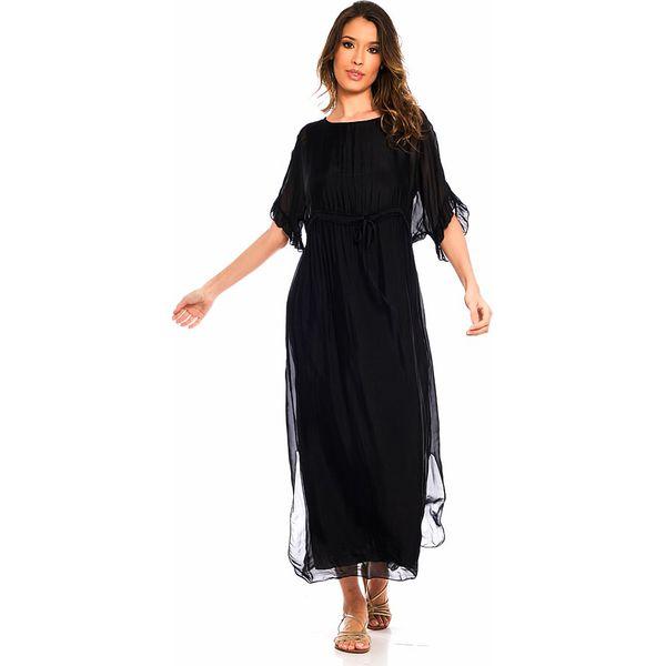 651321c7c3 Jedwabna sukienka w kolorze czarnym - Sukienki damskie marki Silk ...