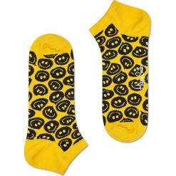 Happy Socks - Stopki Twisted Smile. Żółte skarpety damskie Happy Socks, z bawełny. W wyprzedaży za 19.90 zł.