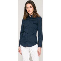 Tommy Jeans - Koszula. Szare koszule damskie Tommy Jeans, z bawełny, casualowe, z długim rękawem. W wyprzedaży za 259.90 zł.