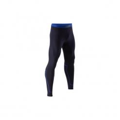 Legginsy oddychające Keepdry 100. Niebieskie legginsy sportowe męskie KIPSTA, z elastanu. Za 39.99 zł.