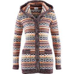 Sweter rozpinany z kapturem bonprix wzorzysty. Kardigany damskie marki KALENJI. Za 99.99 zł.