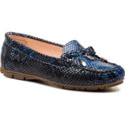 Mokasyny BALDACCINI - 802000-3 Aligator Granat. Niebieskie mokasyny damskie Baldaccini, z lakierowanej skóry. Za 239.00 zł.