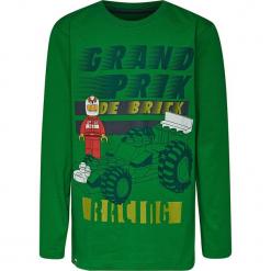 Koszulka w kolorze zielonym. Zielone t-shirty dla chłopców marki Lego Wear Fashion, z bawełny, z długim rękawem. W wyprzedaży za 35.95 zł.