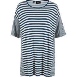 T-shirt z opuszczanymi ramionami bonprix ciemnoniebiesko-biel wełny w paski. T-shirty damskie marki DOMYOS. Za 69.99 zł.