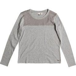 """Koszulka """"Tomorrowmistery"""" w kolorze szarym. T-shirty damskie Roxy, w koronkowe wzory, z koronki, z okrągłym kołnierzem, z długim rękawem. W wyprzedaży za 86.95 zł."""