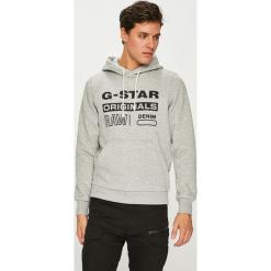 G-Star Raw - Bluza. Szare bluzy męskie G-Star Raw, z nadrukiem, z bawełny. Za 369.90 zł.