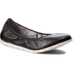 Półbuty TAMARIS - 1-22109-28 Black Leather 003. Czarne półbuty damskie Tamaris, z materiału. W wyprzedaży za 149.00 zł.