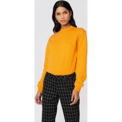 NA-KD Basic Bluza basic - Orange. Pomarańczowe bluzy damskie NA-KD Basic, z dresówki. Za 100.95 zł.