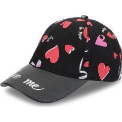 Czapka z daszkiem TRUSSARDI JEANS - Caps Print Heart 59Z00123 K501. Czarne czapki i kapelusze damskie TRUSSARDI JEANS, z bawełny. Za 189.00 zł.