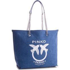 Torebka PINKO - Belato Shopping Canvas PE 18 PLTT 1P214Z Y4KR Light Blue G65. Torebki do ręki damskie Pinko. W wyprzedaży za 539.00 zł.