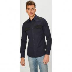 Calvin Klein Jeans - Koszula. Czarne koszule męskie Calvin Klein Jeans, z bawełny, z klasycznym kołnierzykiem, z długim rękawem. Za 399.90 zł.