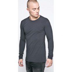 Trussardi Jeans - Longsleeve. Szare bluzki z długim rękawem męskie TRUSSARDI JEANS, z bawełny, z okrągłym kołnierzem. W wyprzedaży za 139.90 zł.