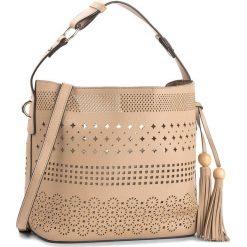 Torebka JENNY FAIRY - RC13389 Beżowy. Brązowe torebki do ręki damskie Jenny Fairy, ze skóry ekologicznej. Za 99.99 zł.