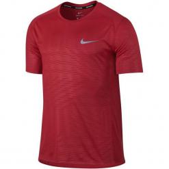 Nike Koszulka Do Biegania M Nk Dry Miler Top Ss Pr Xl. Czerwone koszulki sportowe męskie Nike, z materiału. W wyprzedaży za 119.00 zł.