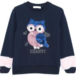 Granatowa Bluza Happy. Niebieskie bluzy dla dziewczynek Born2be, na jesień. Za 59.99 zł.