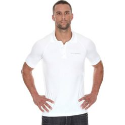 Brubeck Koszulka męska polo Prestige z krótkim rękawem biała r. L (SS10920). Koszulki polo męskie Brubeck, z krótkim rękawem. Za 171.23 zł.