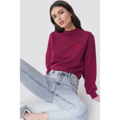 NA-KD Bluza Good Vibes - Purple. Fioletowe bluzy damskie NA-KD, z napisami. Za 100.95 zł.