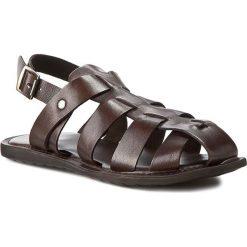 Sandały GINO ROSSI - MN2441-TWO-BG00-3700-0 92. Brązowe sandały męskie Gino Rossi, ze skóry. W wyprzedaży za 139.90 zł.