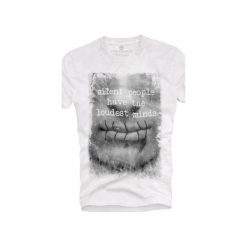 T-shirt UNDERWORLD Ring spun cotton Usta. Białe t-shirty męskie Underworld, z nadrukiem, z bawełny. Za 59.99 zł.