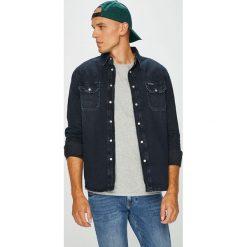 Calvin Klein Jeans - Koszula Archive Western. Szare koszule męskie Calvin Klein Jeans, z bawełny, z klasycznym kołnierzykiem, z długim rękawem. Za 359.90 zł.