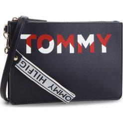 Torebka TOMMY HILFIGER - Iconic Tommy Crossov AW0AW05505 901. Niebieskie listonoszki damskie Tommy Hilfiger, ze skóry ekologicznej. Za 449.00 zł.