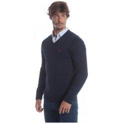 Polo Club C.H..A Sweter Męski L Ciemnoniebieski. Czarne swetry przez głowę męskie Polo Club C.H..A, dekolt w kształcie v. W wyprzedaży za 259.00 zł.