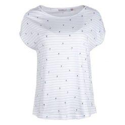 Mustang T-Shirt Damski Aop M Biały. Białe t-shirty damskie Mustang, w paski. W wyprzedaży za 89.00 zł.