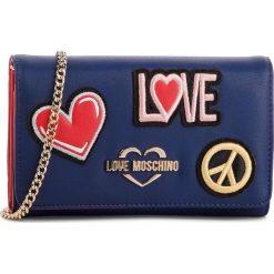 Torebka LOVE MOSCHINO - JC5605PP17LJ0750  Blu. Niebieskie torebki do ręki damskie Love Moschino, ze skóry ekologicznej. Za 529.00 zł.
