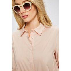 Answear - Koszula. Szare koszule damskie ANSWEAR, z bawełny, casualowe, z klasycznym kołnierzykiem, z długim rękawem. W wyprzedaży za 79.90 zł.