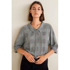 Mango - Koszula Amelia. Szare koszule damskie Mango, z materiału, z krótkim rękawem. Za 119.90 zł.