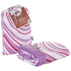 Xkko Bambusowy Kocyk 100X100, Lilac Waves. Różowe kocyki dla dzieci Xkko. Za 129.00 zł.
