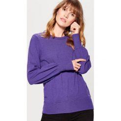 Sweter z marszczonymi rękawami - Fioletowy. Fioletowe swetry damskie Mohito. Za 79.99 zł.